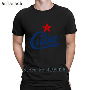 Wholesale Cuba Stamped Vintage T Shirt Cotton Simple Interesting Family Summer Style Men T Shirt Male Printed Standard Super Humorous