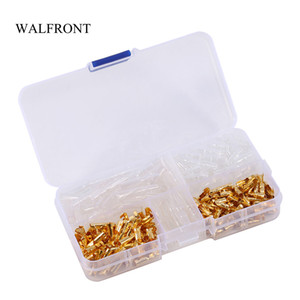 Wholesale electrical boxes resale online - Freeshipping Box Wire Connectors Crimp Terminals Male Female Bullet Connectors Brass Insulation Cover Electrical Terminals