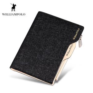 Wholesale WILLIAMPOLO New Arrival Jean Fabric Men Wallet Cash Holder Removable Card Case For Driving License Coin Purse
