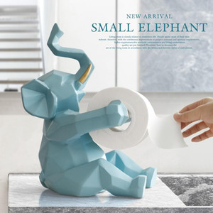 Wholesale craft paper roll resale online - Animal Statue Craft Decorations Roll Paper Holder Living Room Office Restaurant Hanging Paper Elephant deer Figurine Home Decor