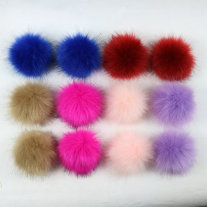 Wholesale 20 Colors 8 10 12 15cm Artificial Fox Fur Pom Pom Ball Craft Tools Home Room Decor Party Supplies Wedding Decoration