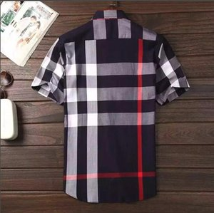 Wholesale 2019 American business self-cultivation plaid shirt, fashion long-sleeved cotton casual shirt striped co-dress shirt #7676 shirt