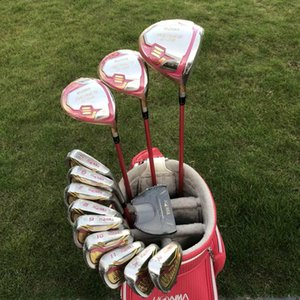Full Set Women Ladies Honma S-06 4 Stars Golf Clubs Driver #3 #5 Fairway Woods+Irons+Golf Putter+Headcovers Fast Shipping