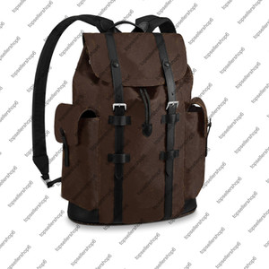 Wholesale line men resale online - M43735 N41379 CHRISTOPHER PM Men BACKPACK Canvas Cowhide leather trim Textile lining strap travel luggage tote satchel shoulder bag purse