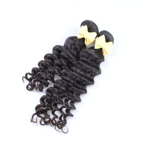 2 Bundles Deep Wave Human Hair Natural Black Raw Indian Curly Human Hair Extensions 100% Unprocessed Hair Extension Deals