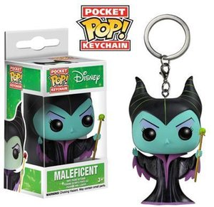Wholesale Kids toy Funko Pocket POP Keychain Maleficent Vinyl Figure Keyring with Box Toy Gift Good Quality