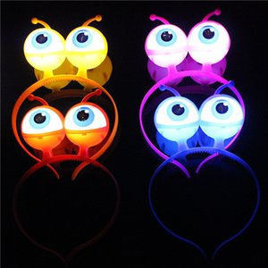 4 Styles Creative Little Monster Eye Hair Hoops Aliens Luminous Hair Ornaments Halloween Concert Pranks Funny Toys L332 on Sale