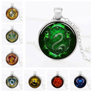 Time Gem Jewelry 24 Styles Harry Magic School Statement Necklaces Potter Pendant Necklace For Men Fashion Jewelry Film Pendant Necklaces