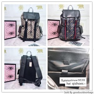best GG techno canvas backpack animal Shoulder Day Bag Brocade size:34x42x16cm