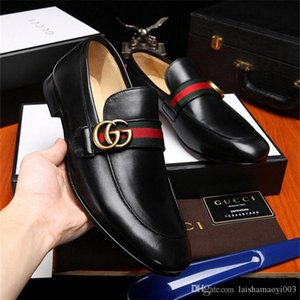 iduzi brand Loafers Party Wedding Shoes Designer BLACK PATENT LEATHER Suede Dress Shoes For Mens Slip On Flats men's Dress shoes