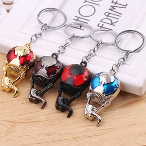 Wholesale Hot New Films Venom Mask Logo Keychains Necklace Pendants Style Aquaman Fashion Jewelry For Women Men Accessories