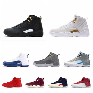 men basketball shoes sneakers 12 12s Sneakers black white CNY PLAYOFF THE MASTER Gym red gamma blue trainers sports size7-13