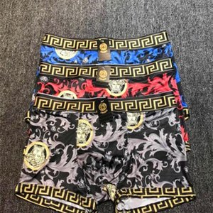 Men Summer Hip Hop Boxers Fashion Head Portrait Pattern Boys Elastic Underpants Personality Designer Teenagers Brand Underwear on Sale