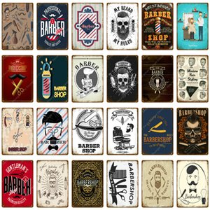 Wholesale Vintage Metal Signs For Hairdressers Barber Shop Hair Salon Decor Hair Styling Cut Haircut Poster Wall Art Painting Plaque