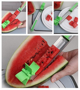 Creative Fruits tools Watermelon Stainless Steel Windmill type Cutting Tool New Stainless Steel Multifunctional Kitchen Tool T3I5004 on Sale