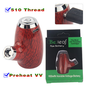 Small 510 Thread Battery Variable Voltage E Pipe 900 mAh Micro USB Charger Preheating VV Vape Pen KY32 Beleaf Box Mod Starter Kit