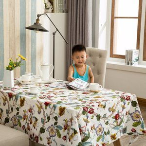 Wholesale High Quality Cotton Fabric Dining Tablecloth Rectangle Table Cloth Household Cloth Hotel Restaurant Fabric Cover