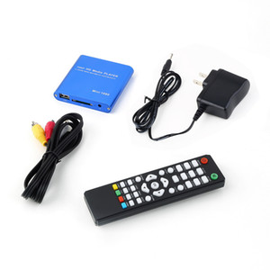 Wholesale One P HDD Muti function Media RMV MP4 AVI FLV Player MKV H RMVB Full HD With HOST USB Card Reader Promotion