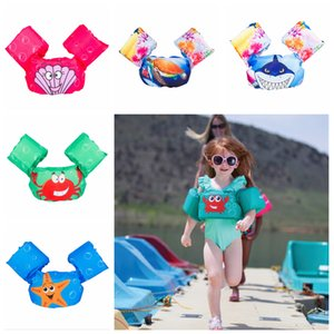 Wholesale 5styles Sea Swimming Arm cartoon Circle Arm animals Ring Inflatable Cute Children Toddler Bathing Swim Pool Baby Clothing Swimwear FFA2150