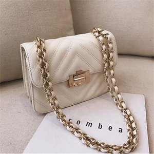 Factory wholesale brand women handbag new wavy leather chain bag classic small Xiang feng ling shoulder bag simple lock Messenger bag on Sale