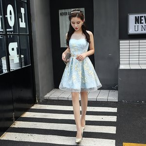 Wholesale Cheap and pretty PROM dresses Graduation gown sleeveless skirts PROM dresses fancy PROM dresses robes de soirée