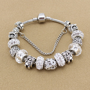 Wholesale NEW Fashion Owl Beaded Pendant Bracelet for Pandora Classic Charm Ribbon Ladies Bead Bracelet