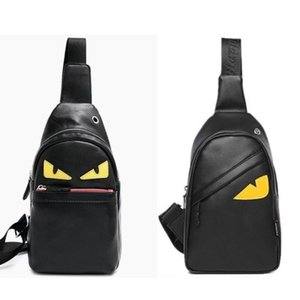Men's PU Leather Chest Sling Day Pack Shoulder Bag Anti-Theft Design Sport Travel Backpack Toothless Small Soft