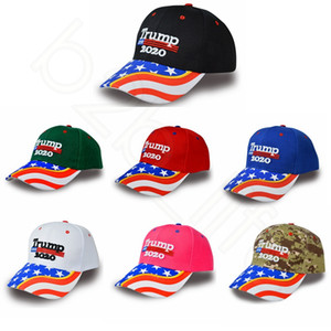 ingrosso tappi a sfera mimetici-New Donald Trump Cappello da baseball mimetico Keep America Great President Election Trump Ball Cap Cappelli da golf HHA494