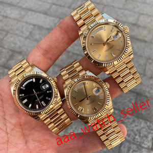 Wholesale calendar date resale online - 7 styles mens automatic watches master mm Day date all gold president bracelet fluted bezel luxury mens watches