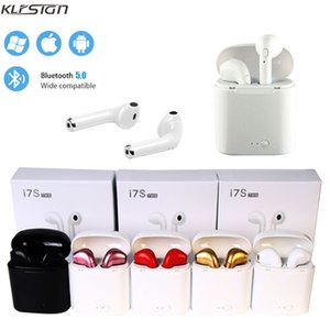 Wholesale KLFSIGN i7s TWS Wireless Bluetooth Earphone Stereo Earbud Headset Twins Headphones With Charging Box Mic For All Smart Phone not Airpods