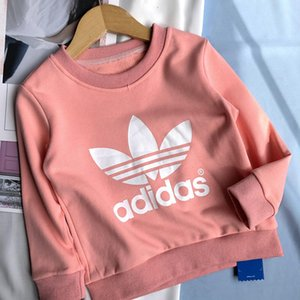 Wholesale NEW Kids Designer Sweatshirt AD Pattern Girls Pullovers Active Letters Boys Hoodies Brand Kids Clothes Childrens Top Long Sleeves 912X40