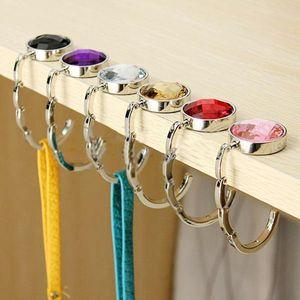 Portable Metal Foldable Bag Hook Handbag Hanger Purse Hook Handbag Holder Shell Bag Folding Table Hook Creative Tools Outdoor Cafe Promotion