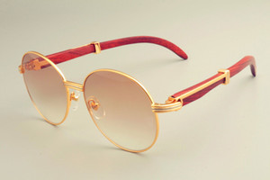 2019 new hot round frame sunglasses 19900692 sunglasses, retro fashion sun visor, natural wooden temple sunglasses