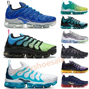 Wholesale TN Plus game royal racer blue Runnning Shoes Mens aurora green White Blue lemon lime spirit teal Men Women Designers Sneakers
