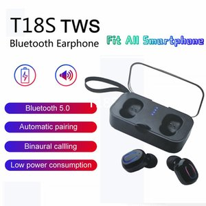 Wholesale Earbuds Wireless Sports Earphones T18s Tws Base Wireless Headphone Earbuds for small ears with Charging Case