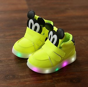 Wholesale New Spring Bright Autumn Children Easy Kids Led Shoes High Girls Shoes Babies Boys Trainer Daughters
