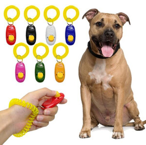 fernbedienung vibration großhandel-Universal Remote Portable Tier Hund Taste Clicker Sound Trainer Pet Ausbildung Pfeife Werkzeug Control Wrist Band Zubehör Neue Ankunft