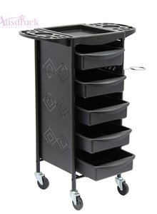 Wholesale EU tax free New fashion Beauty Salon Trolley Spa Styling Station Equipment Rolling Storage Tray Cart A184