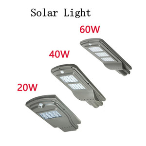 LED Parking Lot Lighting Solar Street Lights 20w 40w Radar Sensor Security Spot Light Waterproof Dusk to Dawn Outdoor Lamp on Sale