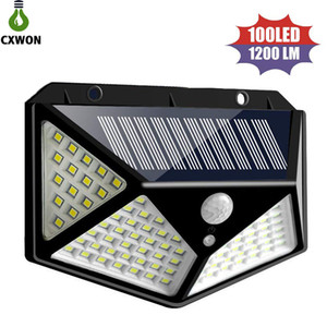Wholesale Wide Angle Solar Lamps leds lm solar led garden light PIR Motion Sensor Solar Wall Mounted Light