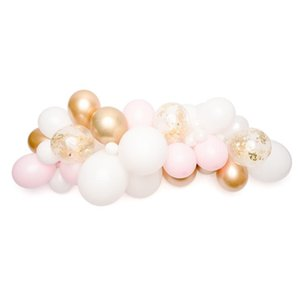 40pcs Balloon Garland Baby Pink White Latex Ballons Gold Chrome Confetti Balloon For Wedding Birthday Baby Shower Party Supplies