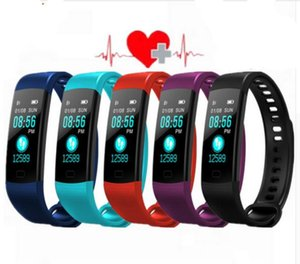 Wholesale wholesale Y5 Smart Band Watch 6 Color Screen Wristband Heart Rate Activity Fitness tracker Smart Bracelet