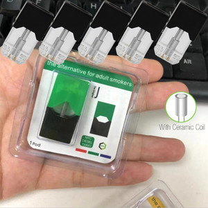 Newest Compatible Pods Disassembled Empty Pods 0.7ml Ceramic Coil COCO Pod for Thick Oil Refillable Pod Cartridge with Blister Packaging