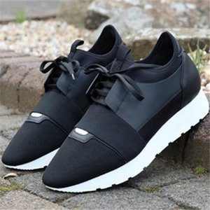 Black Outdoor Casual Shoes Lace Up Designer Mesh Air Leather Men Sneakers Runners Race Shoes Mens Womens Trainers Baseball Running Shoe