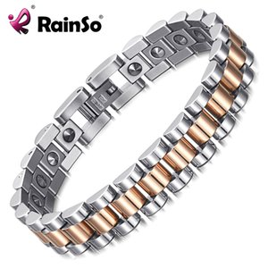 Wholesale germanium jewelry health for sale - Group buy Rainso Pure Germanium Bracelet For Women Korea Popular Stainless Steel Health Magnetic Germanium Energy Power Jewelry MX190727