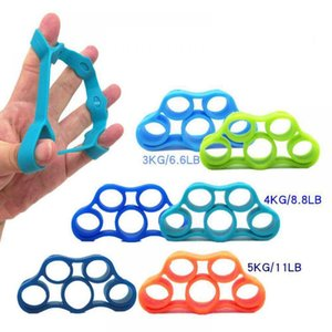 Wholesale Yoga Finger Band Resistance Bands Hand Stretcher Exerciser Grip Strength Wrist Exercise Finger Trainer Fitness Equipments PPA410