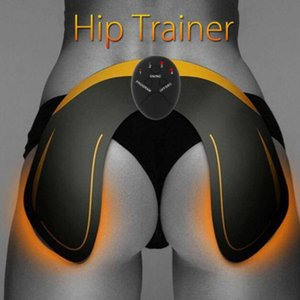Wholesale EMS Hip Trainer Muscle Stimulator ABS Buttock Tighter Lifter Massager Electric Vibration Muscle Stimulator Relaxtion Machine Box Package DHL