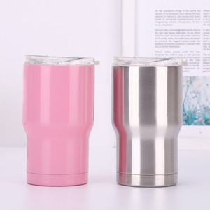 Wholesale 14OZ stainless steel tumblers double wall insulation vacuum water beer mugs portable coffee car cups with lids