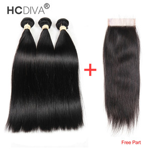 8A Brazilian Virgin Hair With Frontal Human Hair Weave 3 Bundles With Frontal Virgin Brazilian Body Wave Hair With Lace Frontal Closure