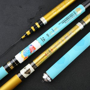 Wholesale 3 m mTaiwan Fishing Rod Black Pit Fishing Olta Tonalty H Super Hard Hand Pole Carbon Long Sections Canne Tackle